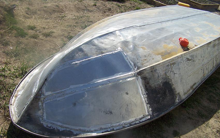 как восстановить алюминиевую лодку