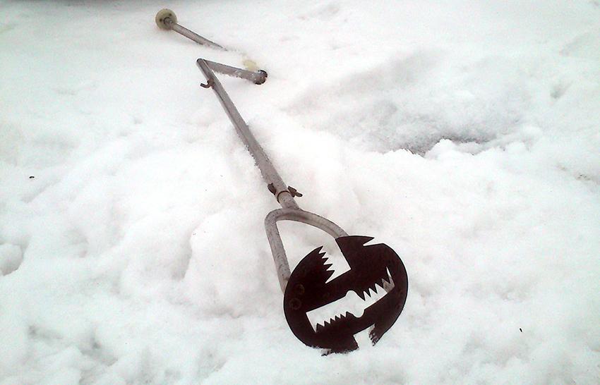 Самодельный ручной бур для льда