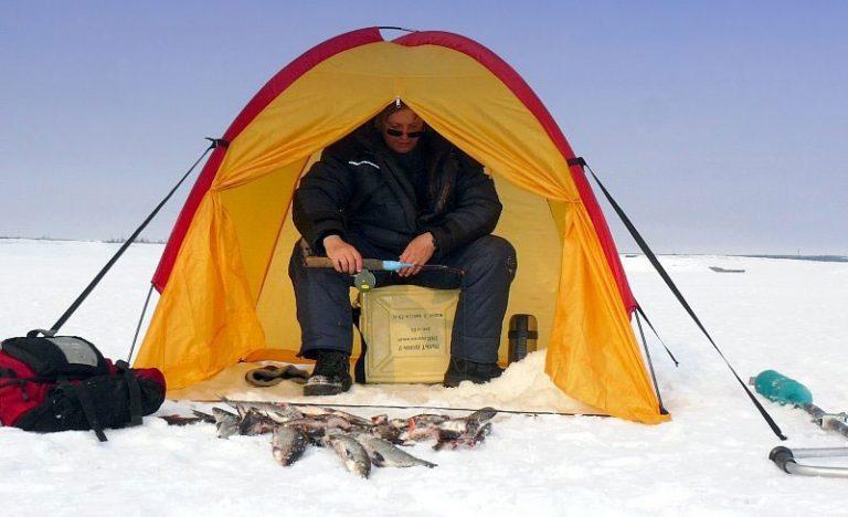 видео в палатке ловля