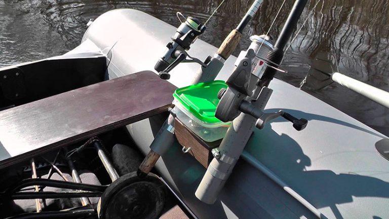Подставки для спиннингов на лодку своими руками