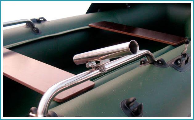 Держатель для спиннинга на лодку ПВХ - требования, лучшие модели, самодельные держатели