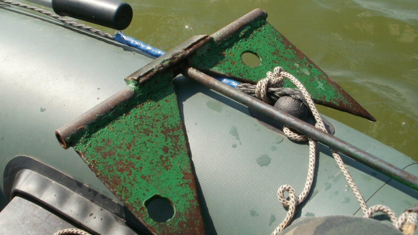 Делаем якорь для лодки ПВХ своими руками - чертежи, схемы и советы